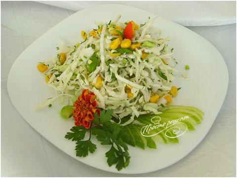 Овощной салат «Простенький»
