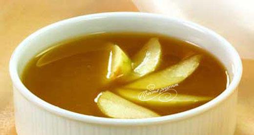 Сладкий суп из яблок