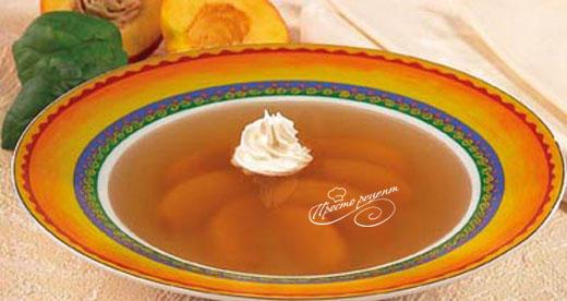 Суп персиковый с ромашкой