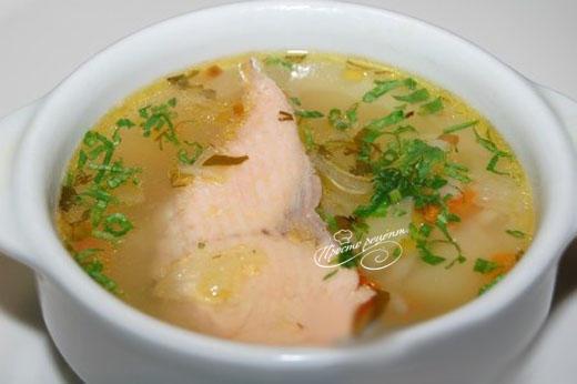 Рыбный суп из горбуши