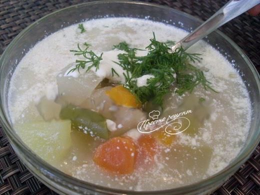 Суп из замороженной овощной смеси