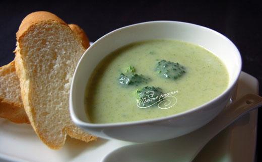 Овощной суп-пюре из брокколи