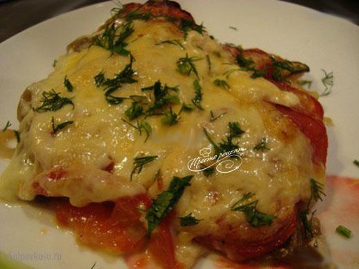 Запеченные овощи под сыром