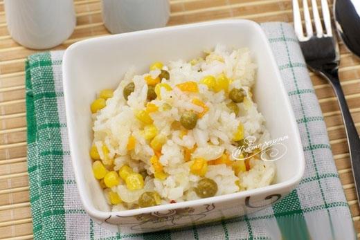 Рис с мексиканской овощной смесью