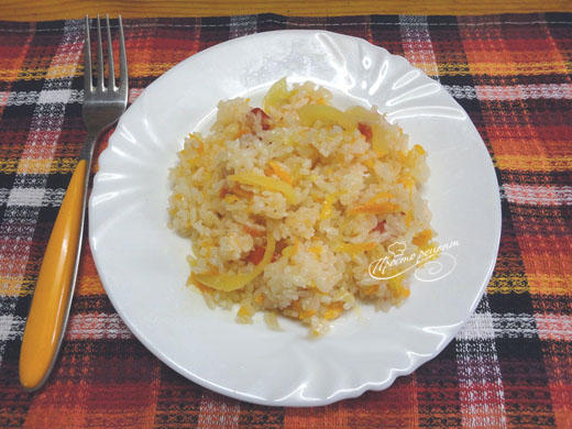Рис тушеный с овощами