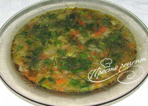 Рисовый суп «Морской»