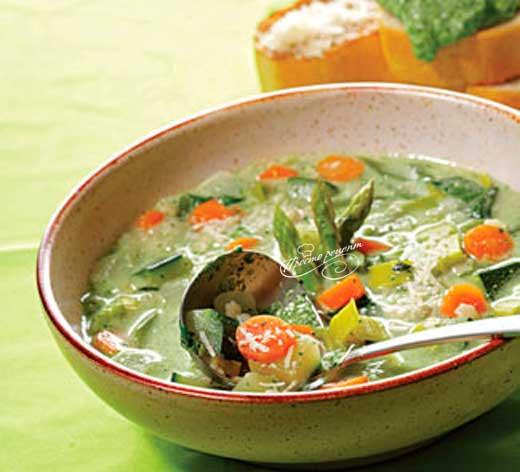 Суп минестроне диетический