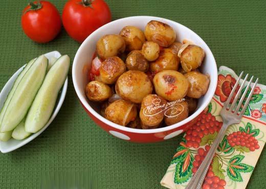 Гарнир из молодого картофеля к курице