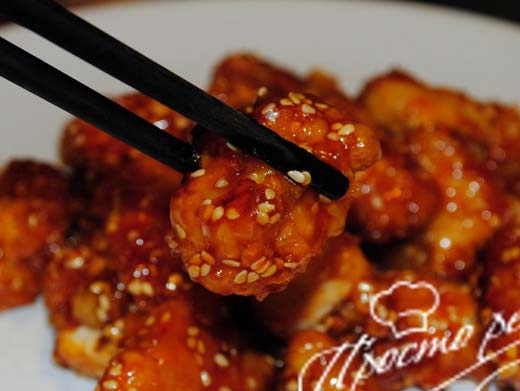 Курица по-китайски с кунжутом