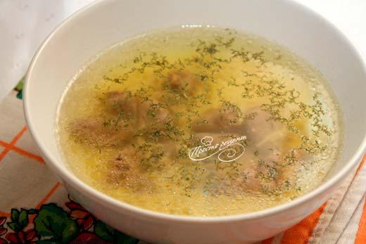 Суп з курячих сердечок