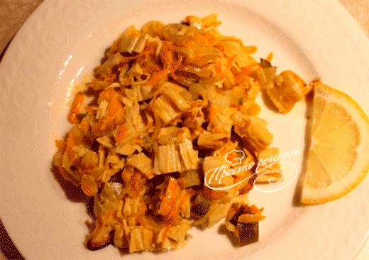 Салат со спаржей и морковью