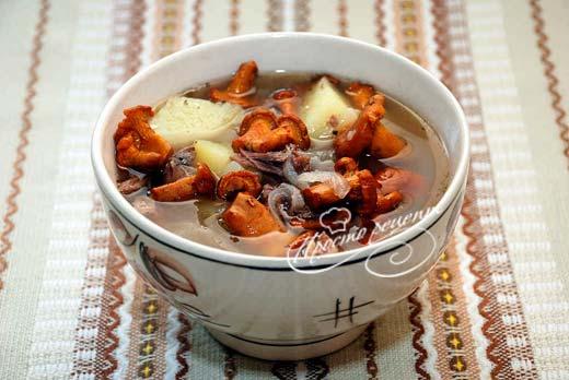 Суп з лисичок