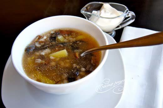 Суп из сморчков