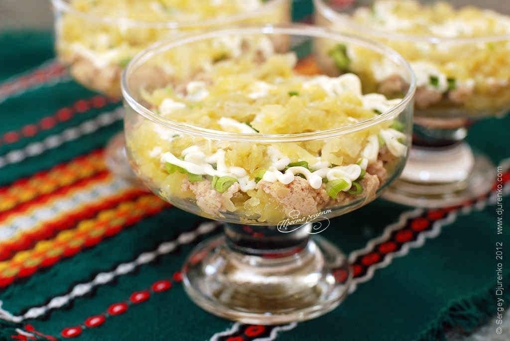 салат из печени трески классический рецепт фото