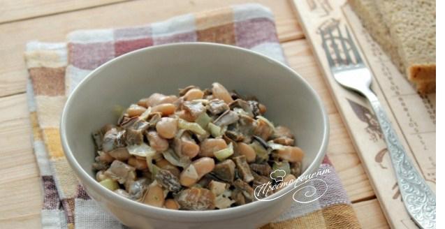 Салат з сушеними грибами