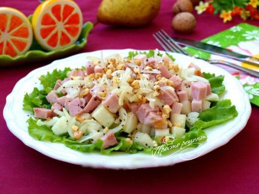 рецепт салат немецкий с ветчиной и