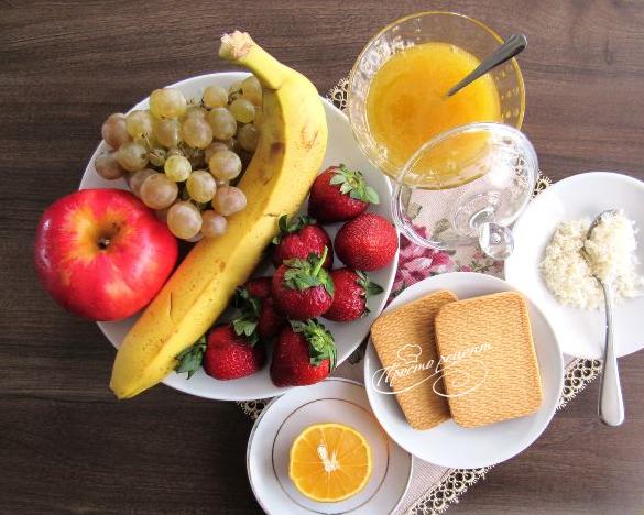 как приготовить фруктовый салат рецепт и фото