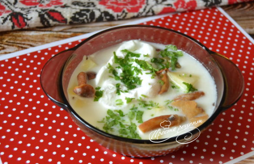 Грибной суп по-чешски