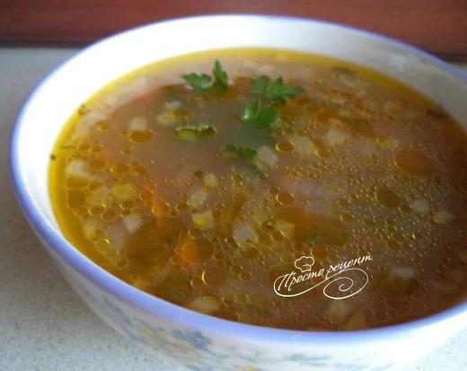 Грибний суп з рисом