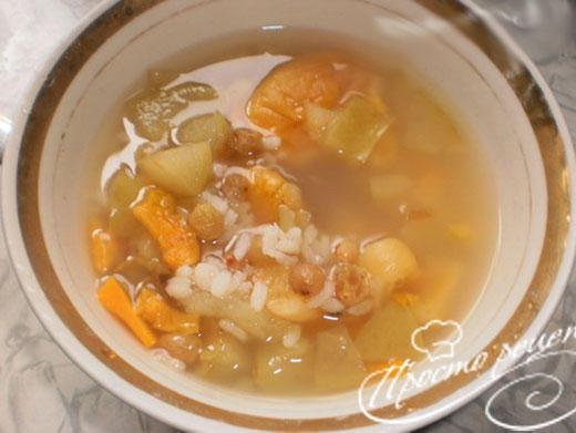 Фруктовый суп с рисом