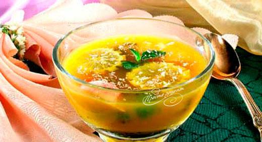 Суп лаймовый с фруктами