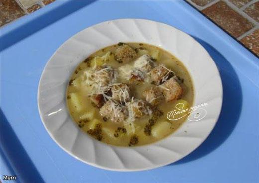 Чешский суп Чеснечка в мультиварке