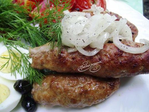 Люля-кебаб из свинины на мангале