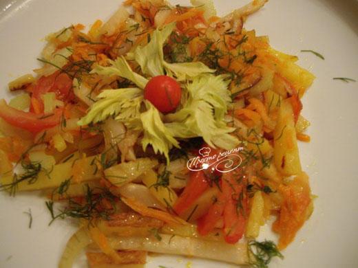Жареная картошка с овощами