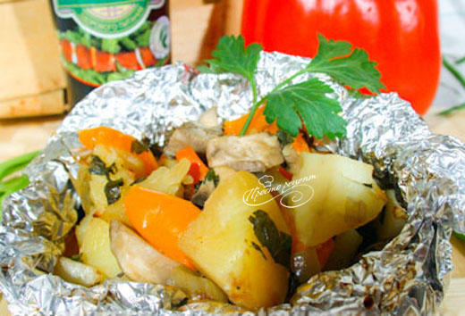 Овощи запеченные в фольге