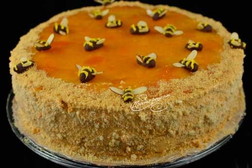 Медовый торт классический со сметанным кремом