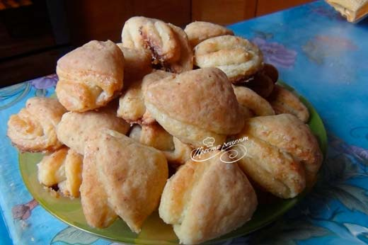Творожное печенье треугольники (гусиные лапки)