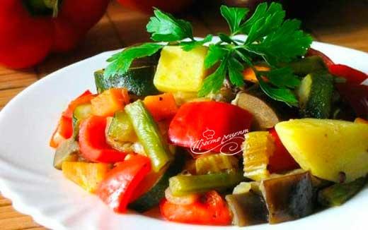 Запеканка из замороженных овощей