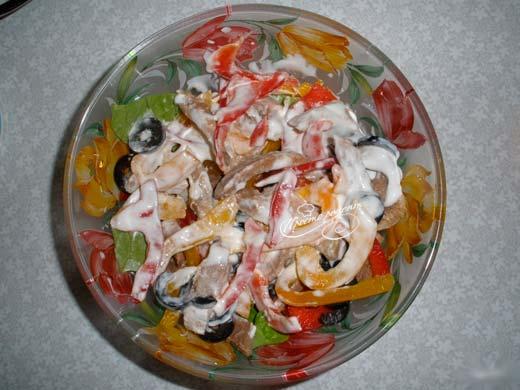 Салат з язиком яловичим