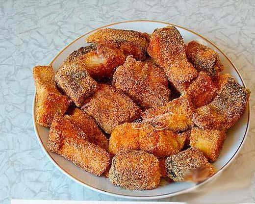 Жареное филе кефали