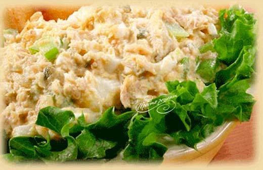 Салат из тунца консервированного
