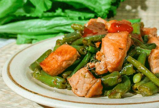 Мясо со стручковой фасолью