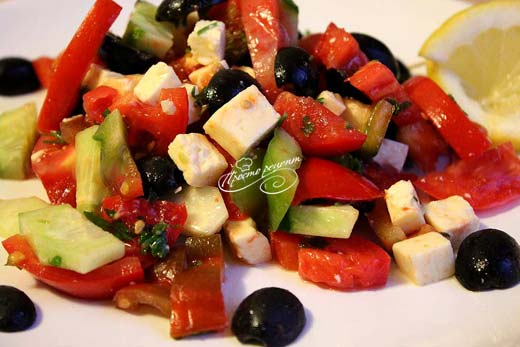 Салат с оливками Греческий