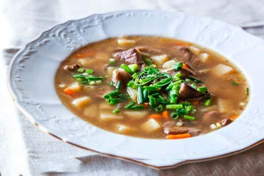 Грибной суп из маслят