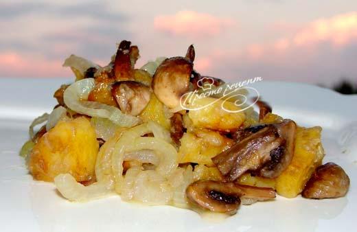 Опята жареные с картошкой
