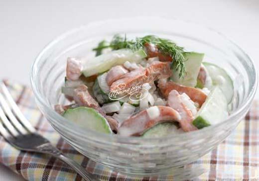 Салат из соленых рыжиков