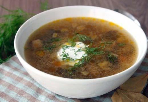 Суп из замороженных подосиновиков
