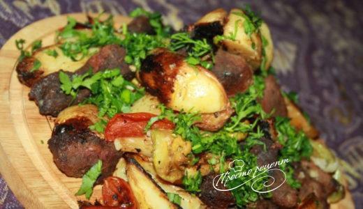 Оленина в духовке с овощами