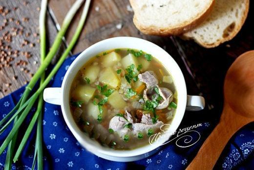 Суп из куриных желудочков