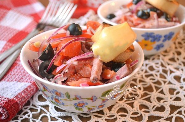 Салат з копченої яловичини