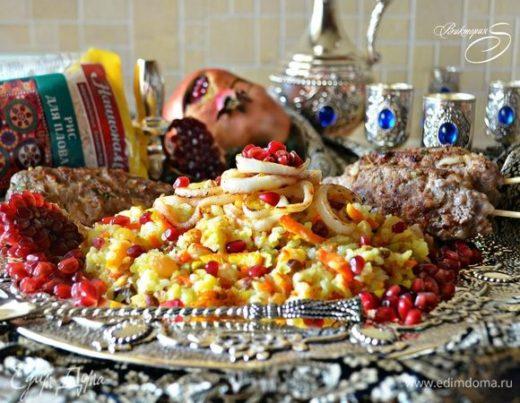 Королевский персидский плов с люля-кебабом из баранины