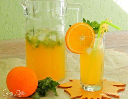 Апельсиновый напиток с мелиссой