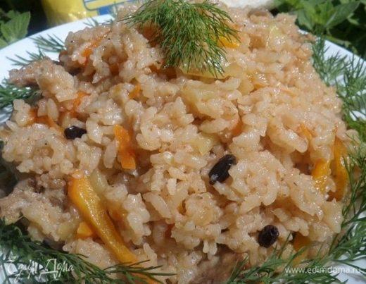 Рис с кроликом и овощами