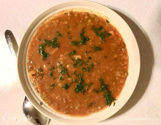 Чечевично-томатный суп