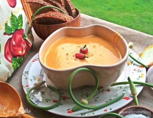 Тыквенный суп с сыром