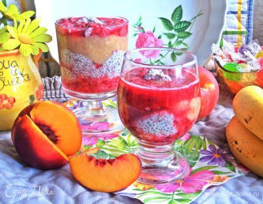 Коктейль-десерт на основе молока и фруктов